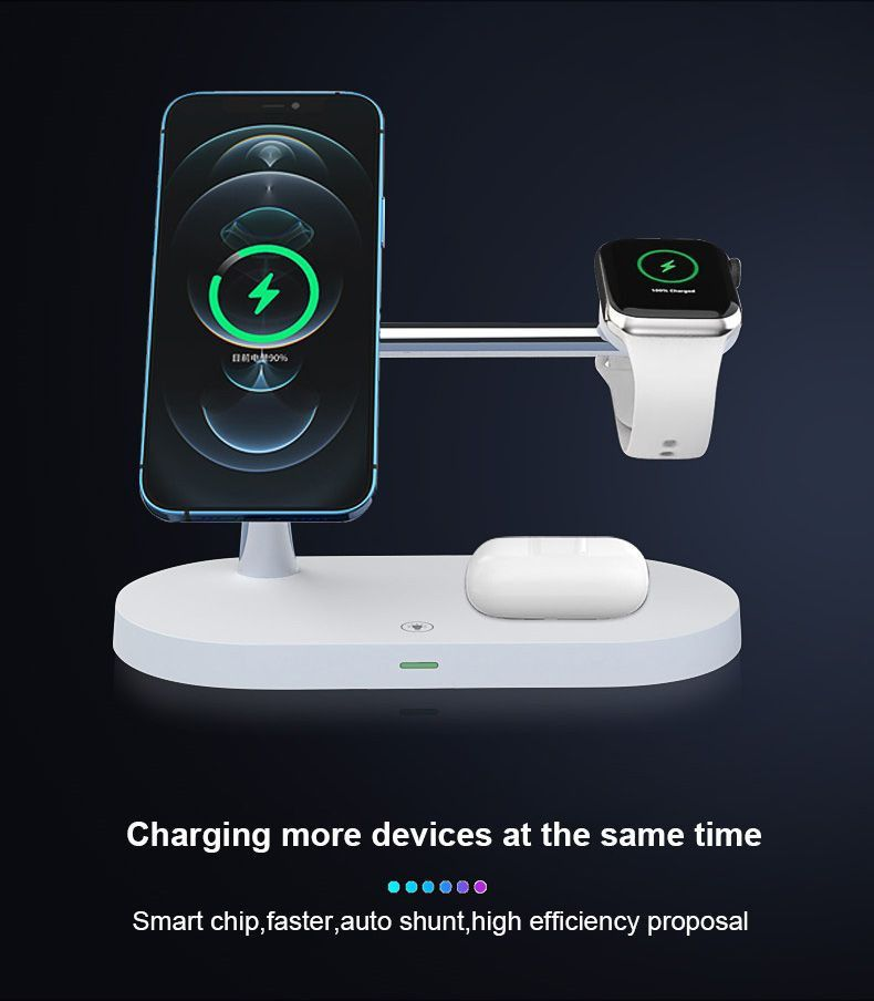 5 in 1 Wireless Charger with Night light